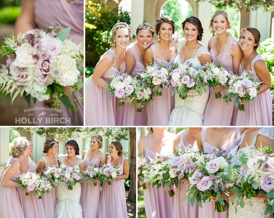 blush pink bridesmaids mori lee