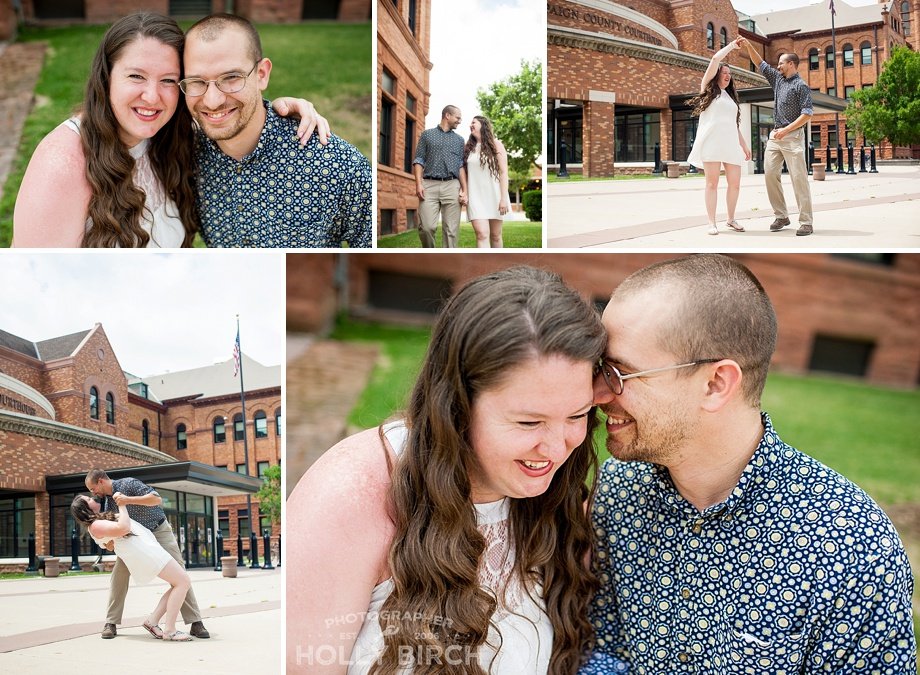 weekday wedding photos at Urbana courthouse