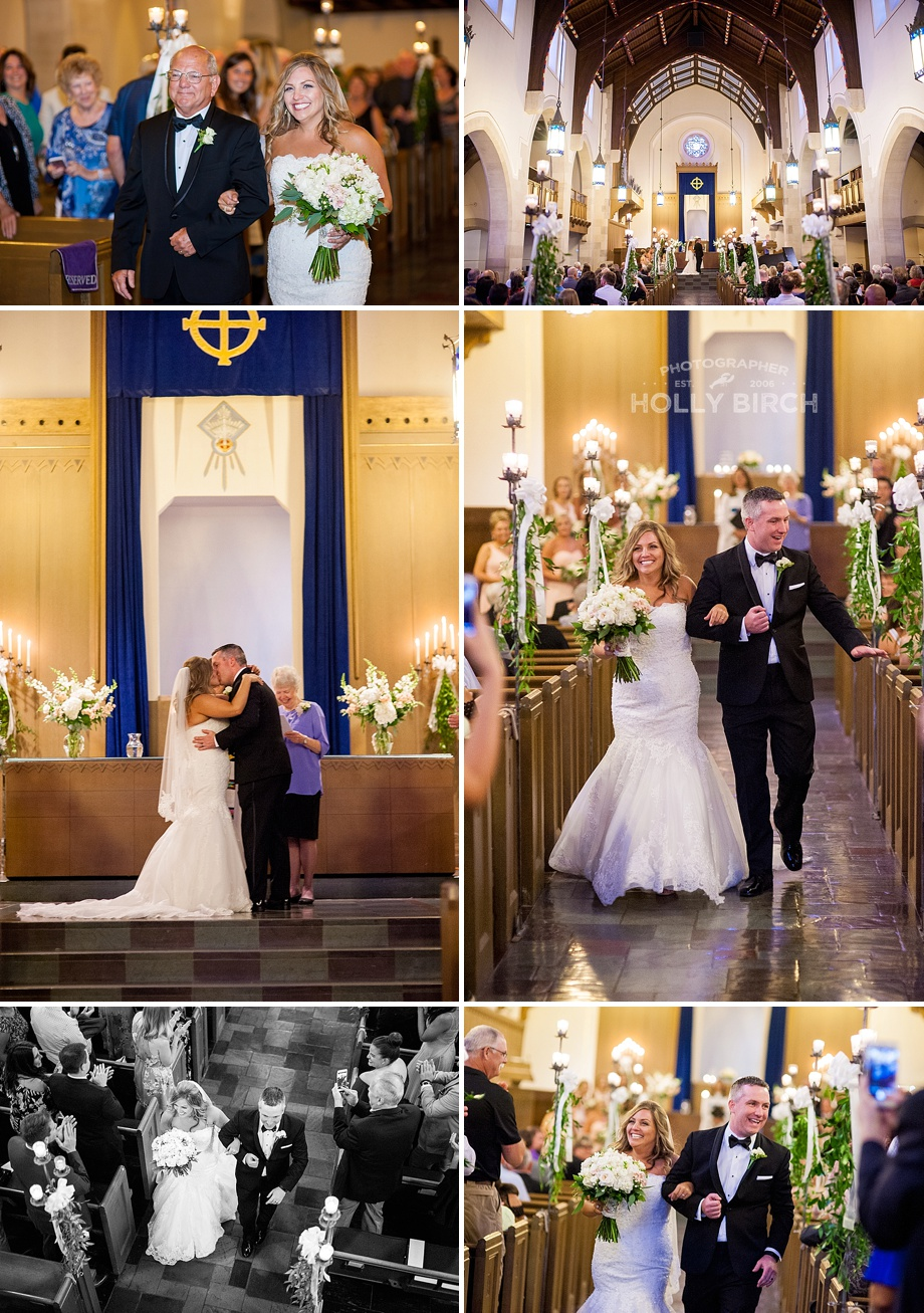 Christian church wedding ceremony