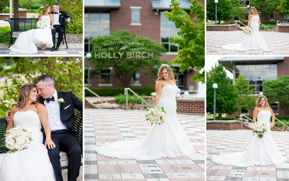 bridal images on University of Illinois campus