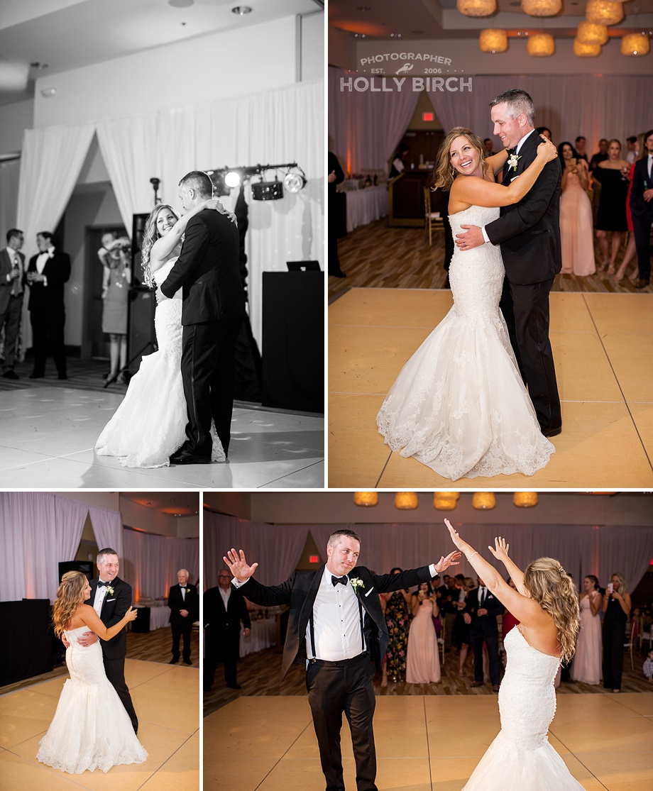 couple's first dance at hotel reception
