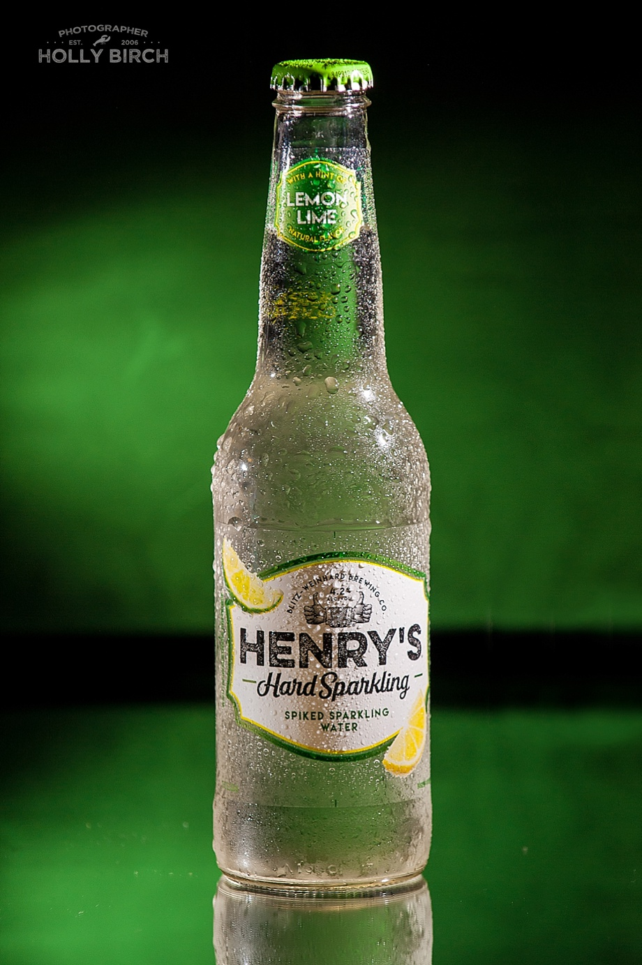 Henry's Hard sparkling spiked water lemon lime