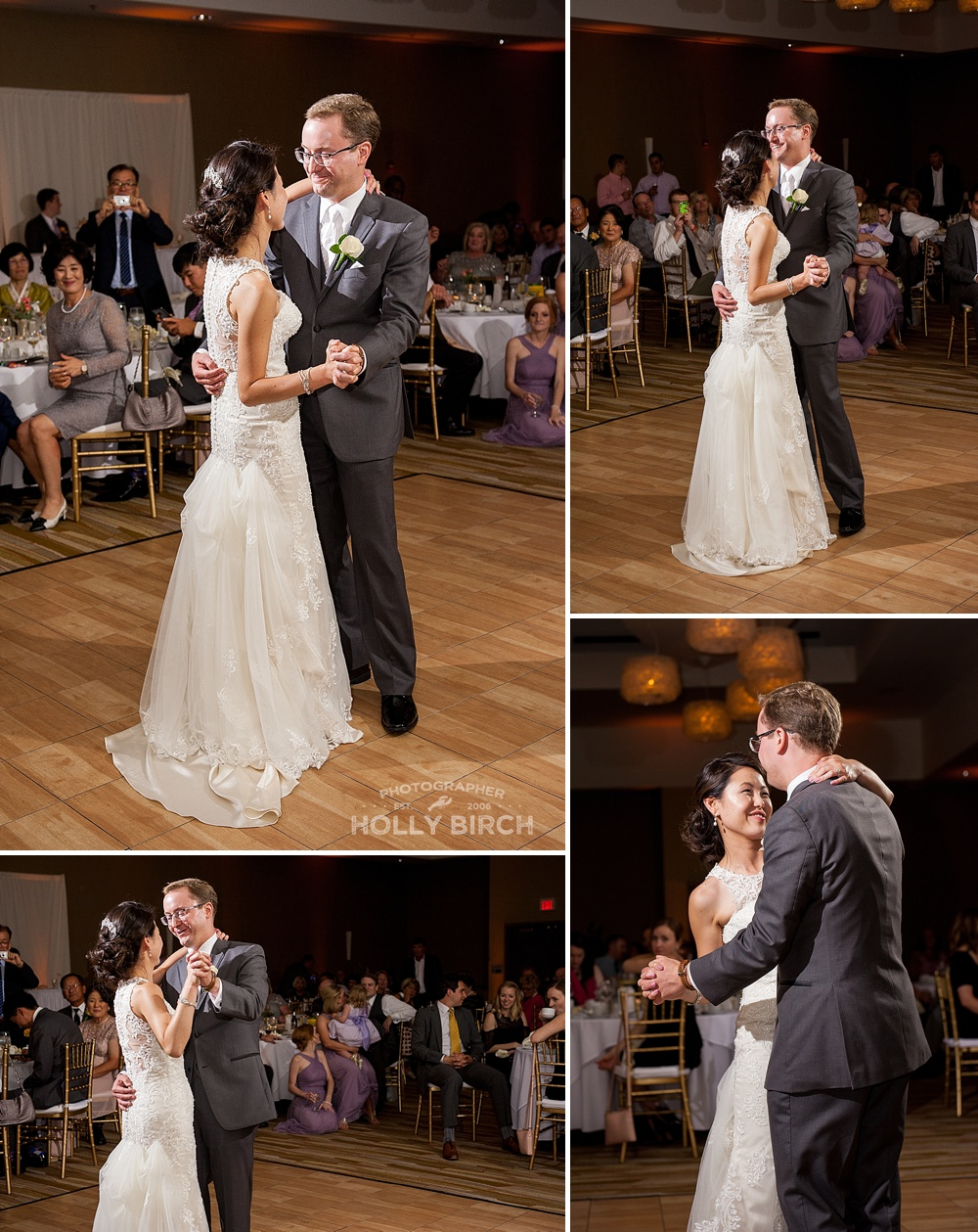 bride and groom's first dance as a married couple