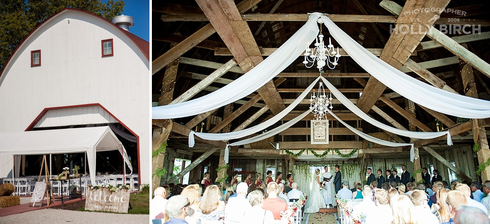 Hudson Farms barn wedding