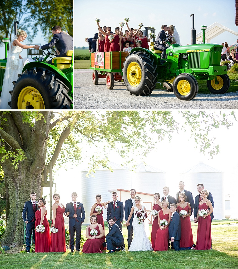 tractor wedding ceremony getaway vehicle