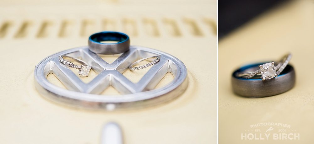 rings with Volkswagen bug