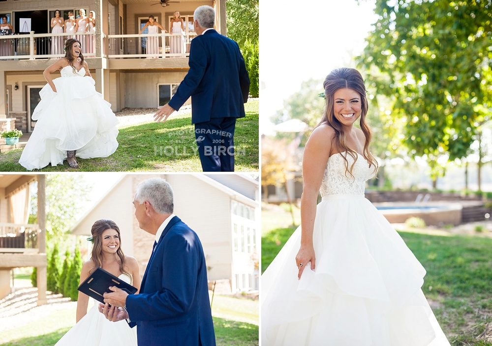 candid moments with father of the bride