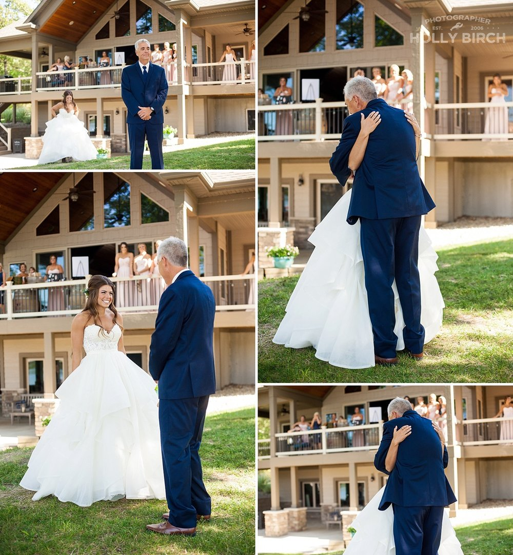 first look with bride's father