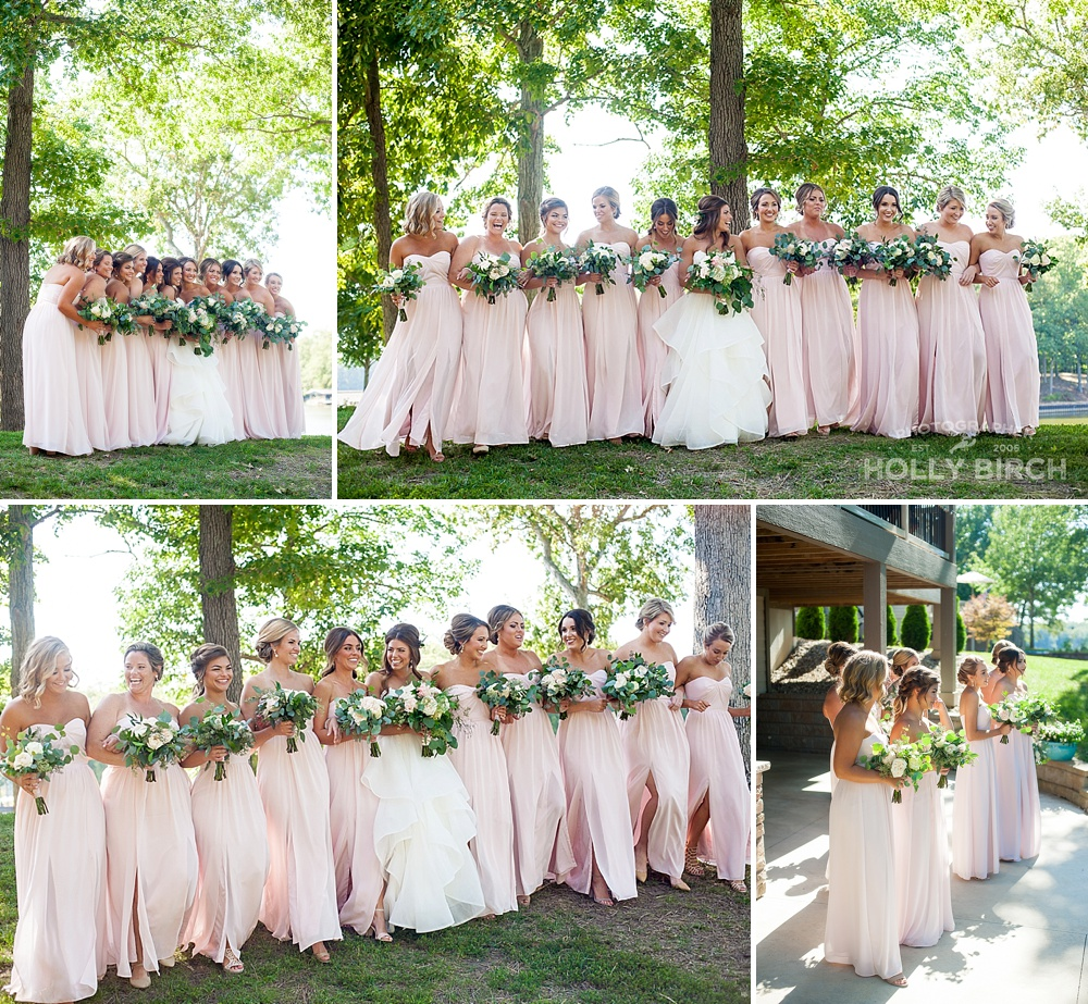 blush pink bridesmaids