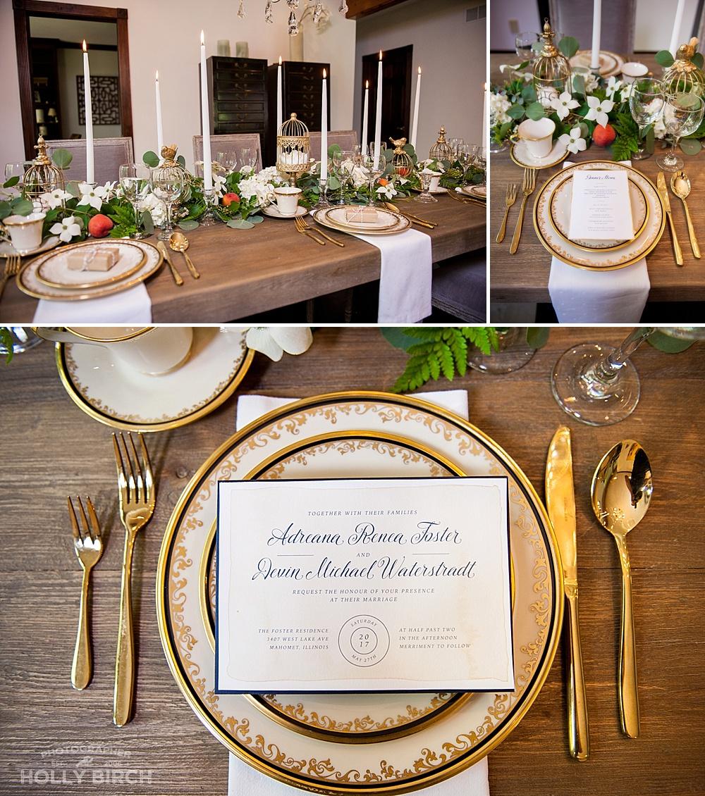 elegant Austrian dinner table setup