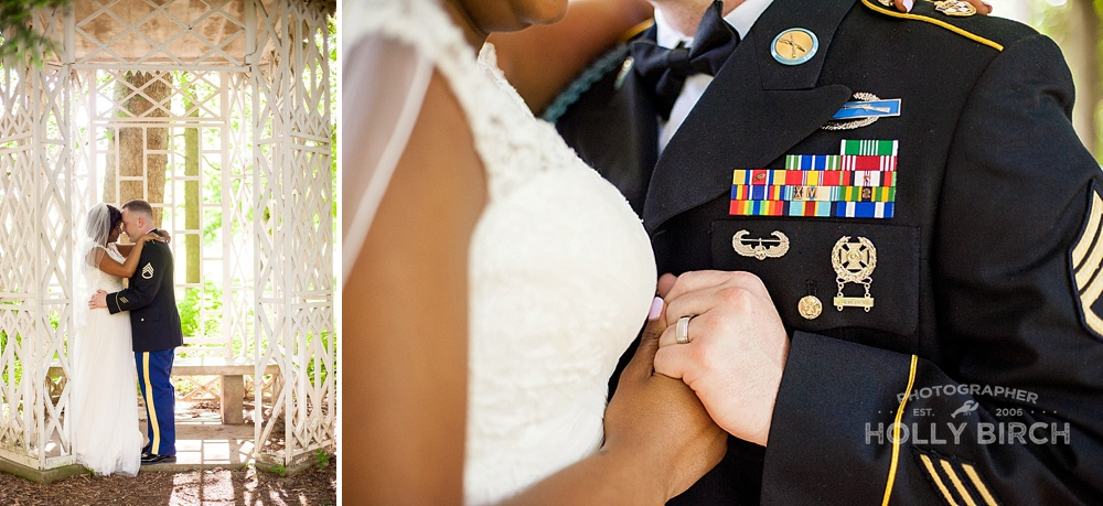 military wedding with sound of music inspired gazebo
