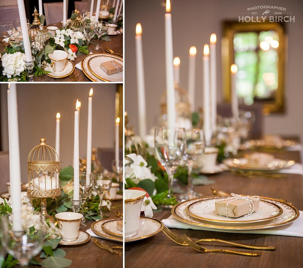 candlelit Austrian dinner table