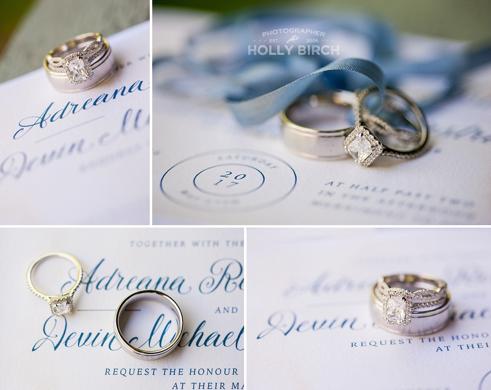 wedding band set from Champaign Jewelers