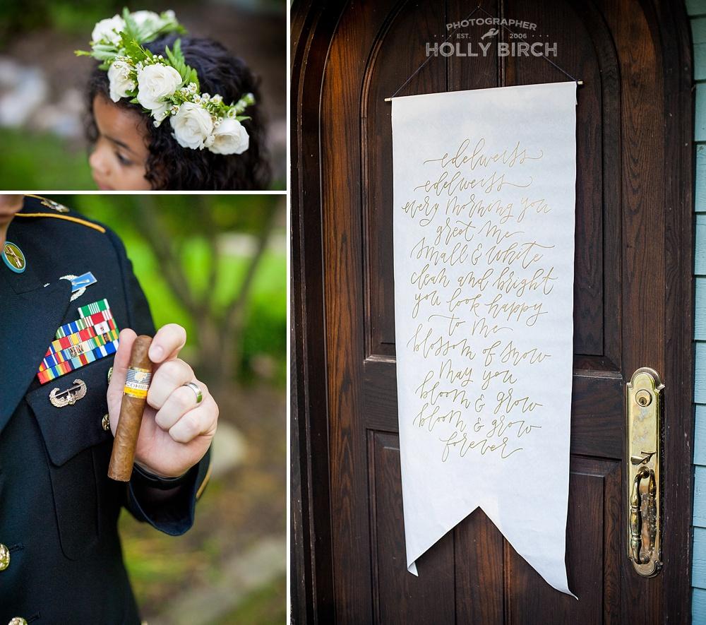 edelweiss lyrics banner on front door