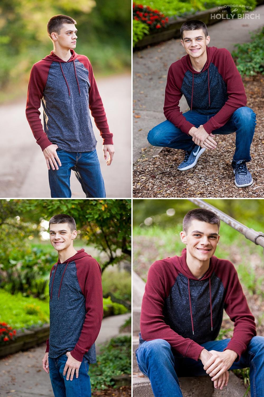 senior photos at Crystal Lake Park in Urbana