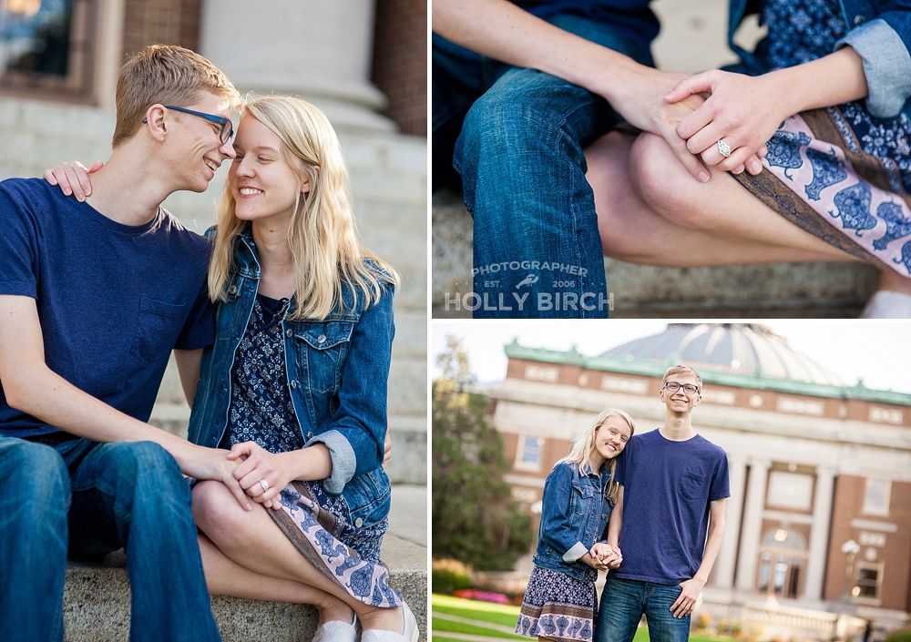 Foellinger Auditorium engagement photos