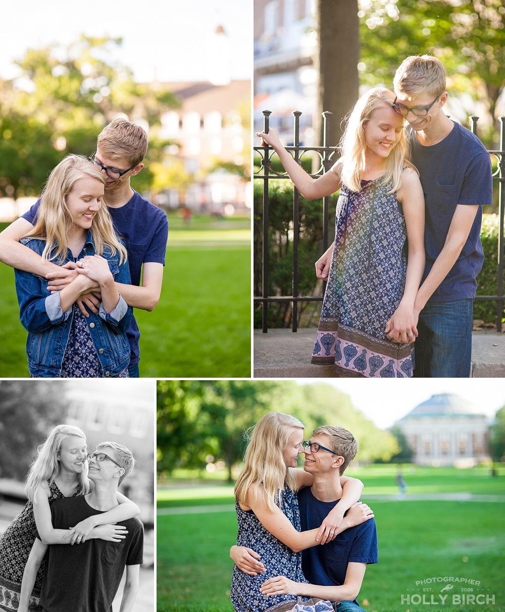 magical University of Illinois Quad engagement