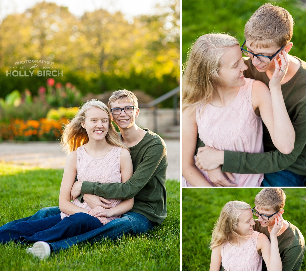 golden hour sunset engagement photos