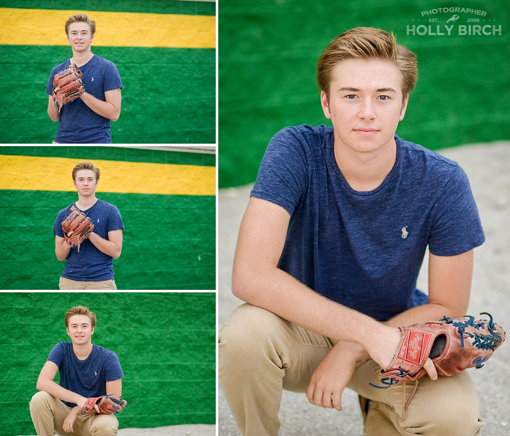 St. Thomas More senior with baseball glove