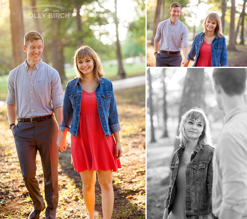 beautiful light for engagement photos in Urbana