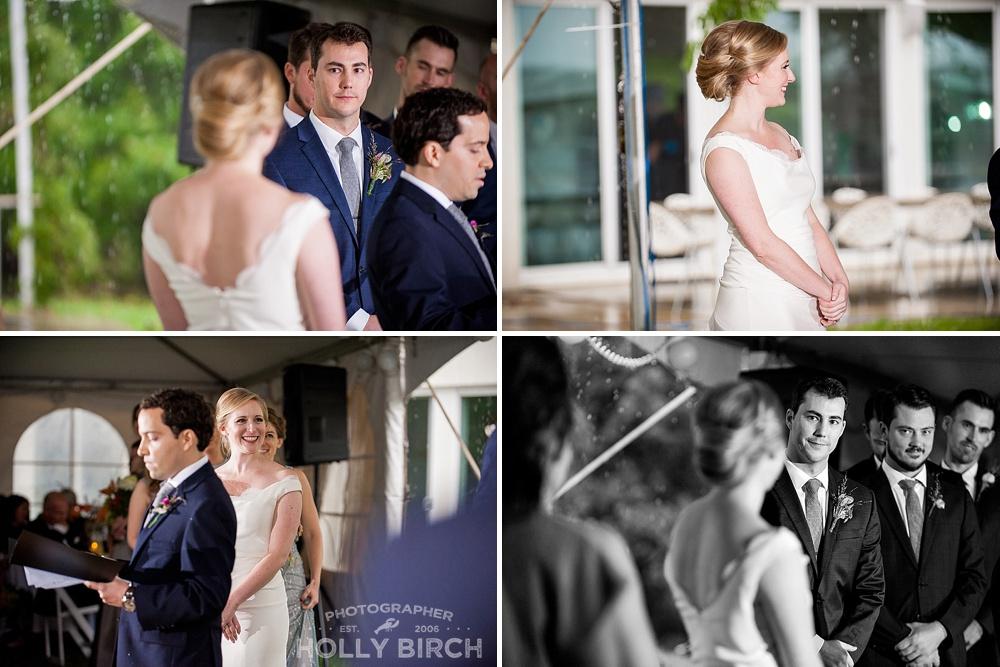 wedding ceremony with off-camera flash