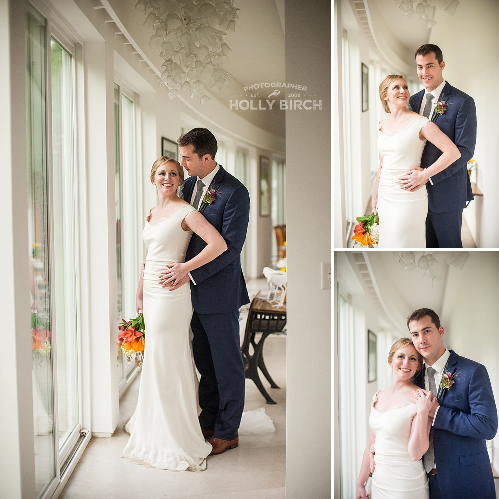Beautiful natural light portraits at prairie glass house