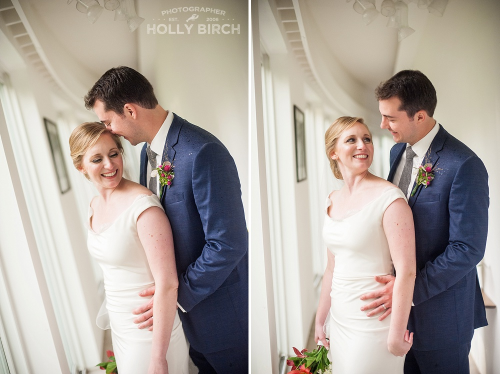 gorgeous natural light portraits of bride and groom
