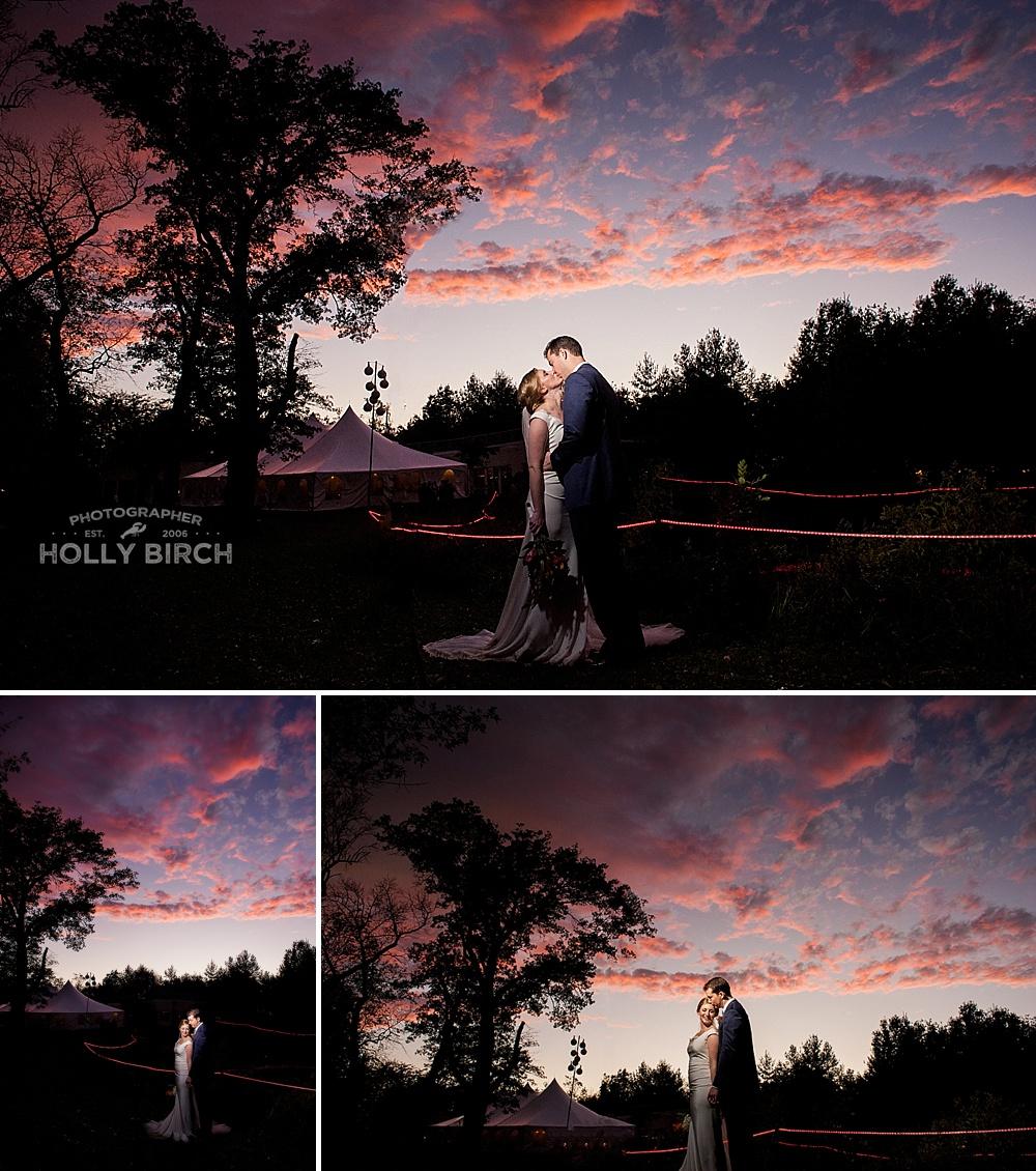 amazing wedding day sunset skies