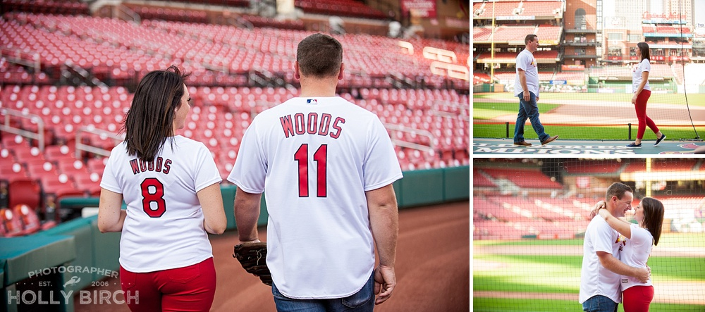 playful photos at Busch Stadium