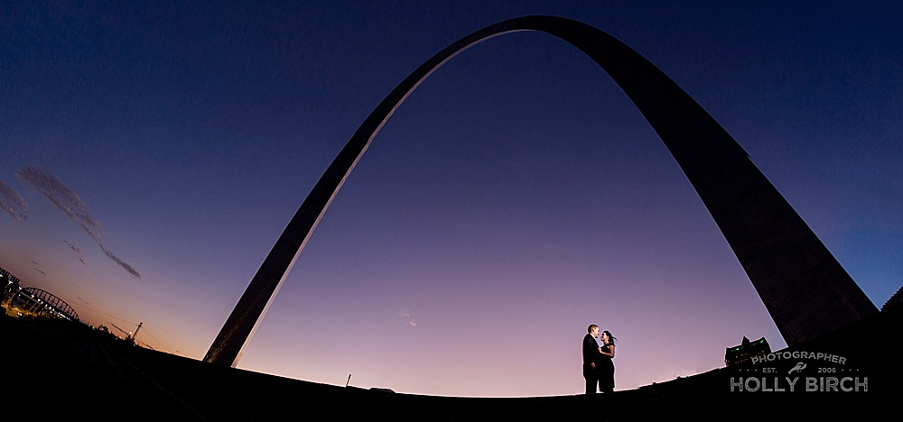 St. Louis Arch panoramic portrait