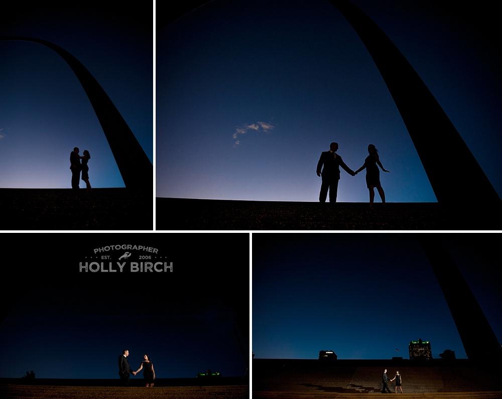 St. Louis Gateway Arch silhouette portraits