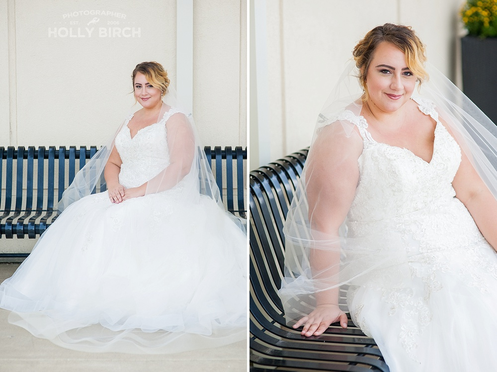 seated bridal pose