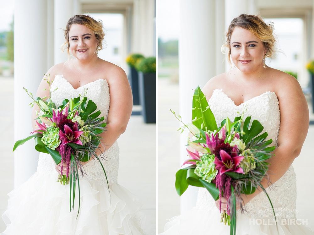bridal bouquet with ornamental kale