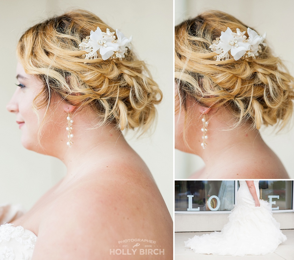bridal hair look with hairpiece inspiration