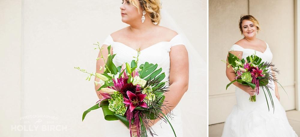 off-shoulder plus-sized bridal gown elegance