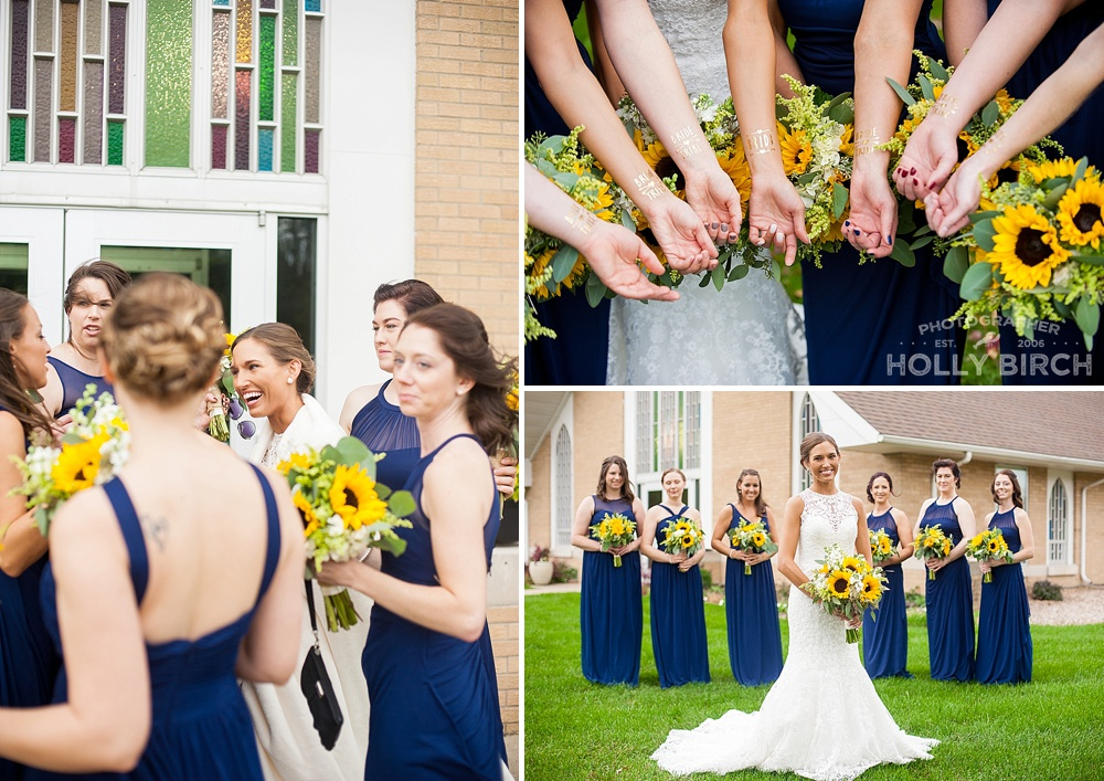 bridesmaid candid photos