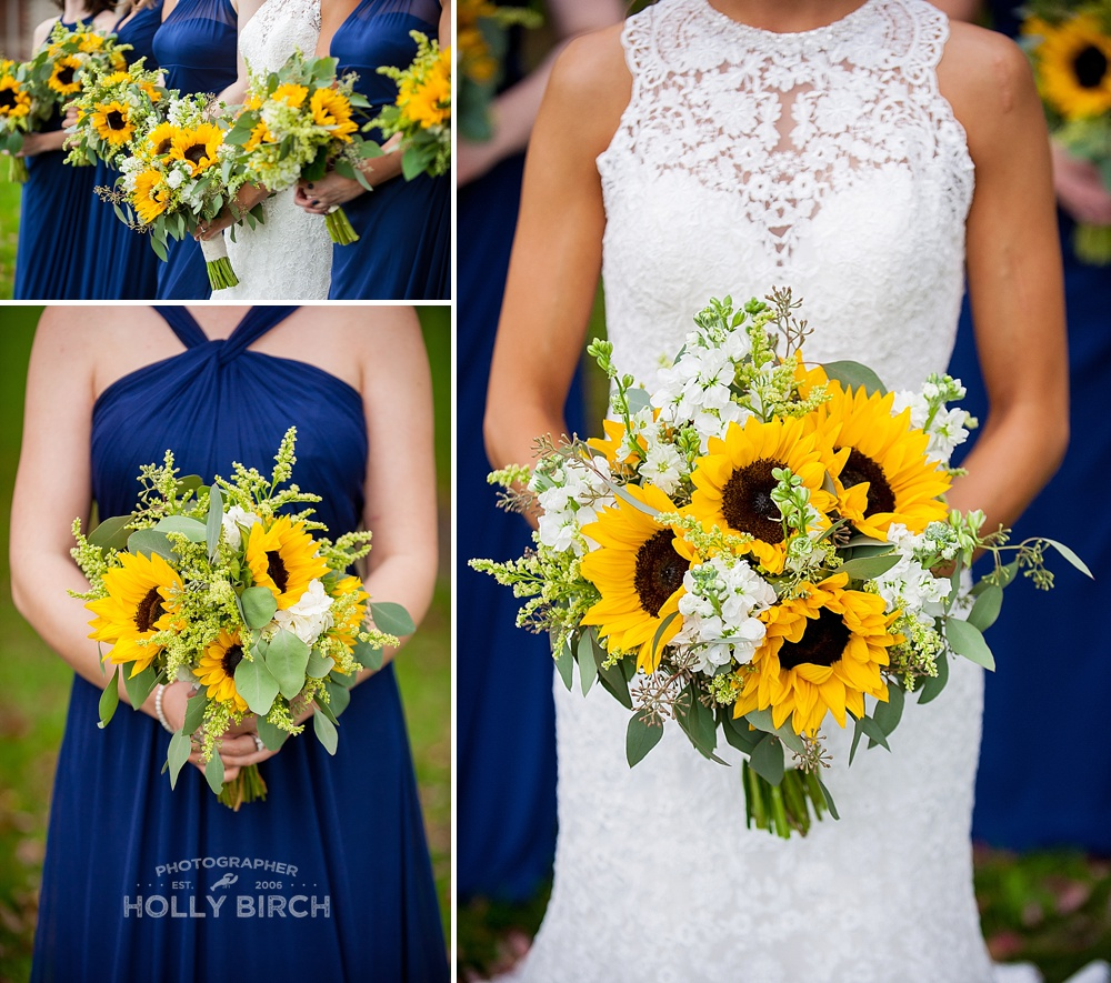 sunflower fall bouquets by Flora Design Studio