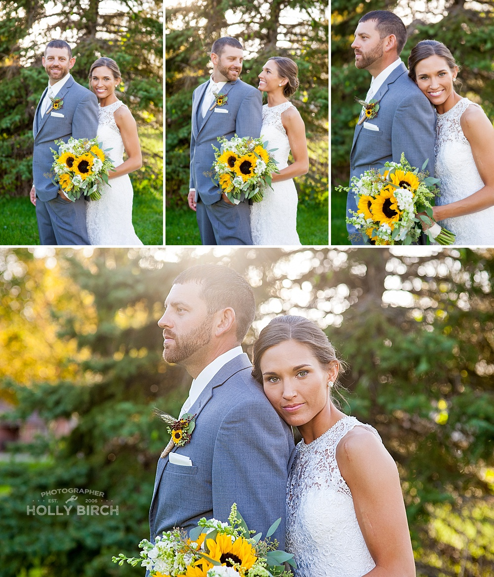 dewy golden hour light for fall wedding photos