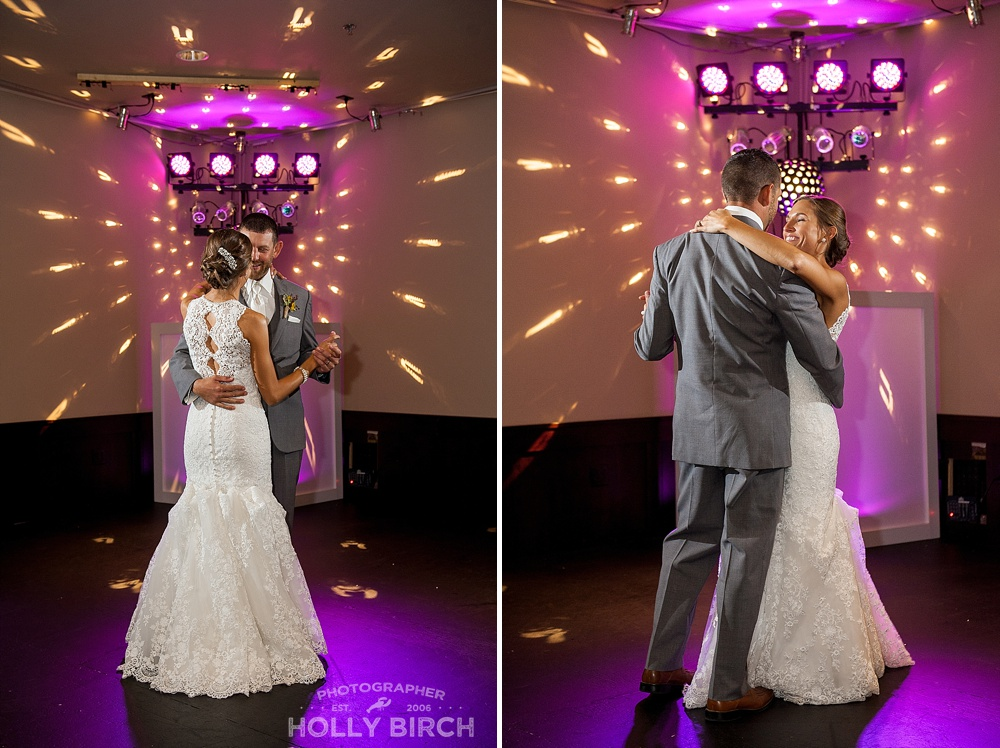 first dance with DJ purple gels