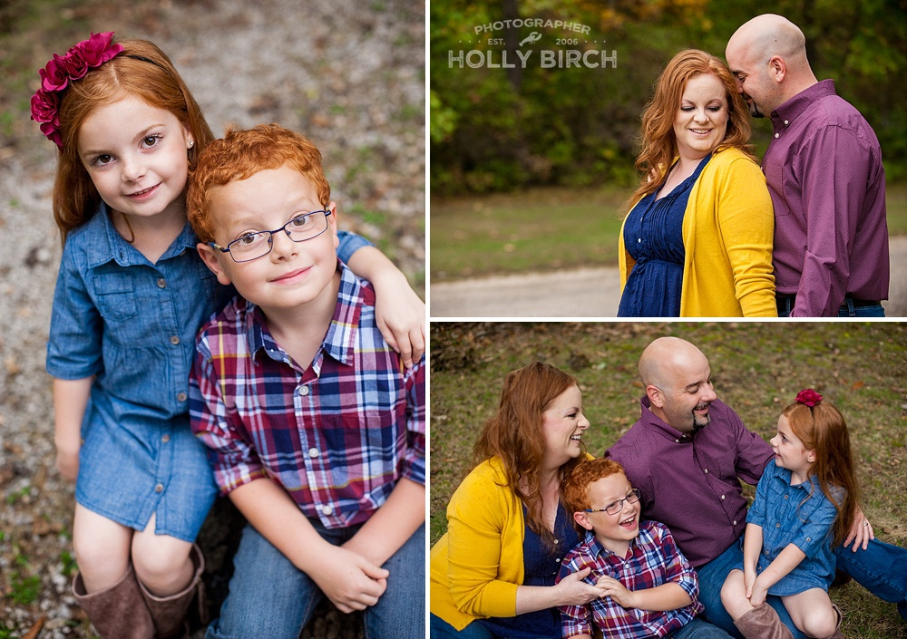 fall family photo groupings
