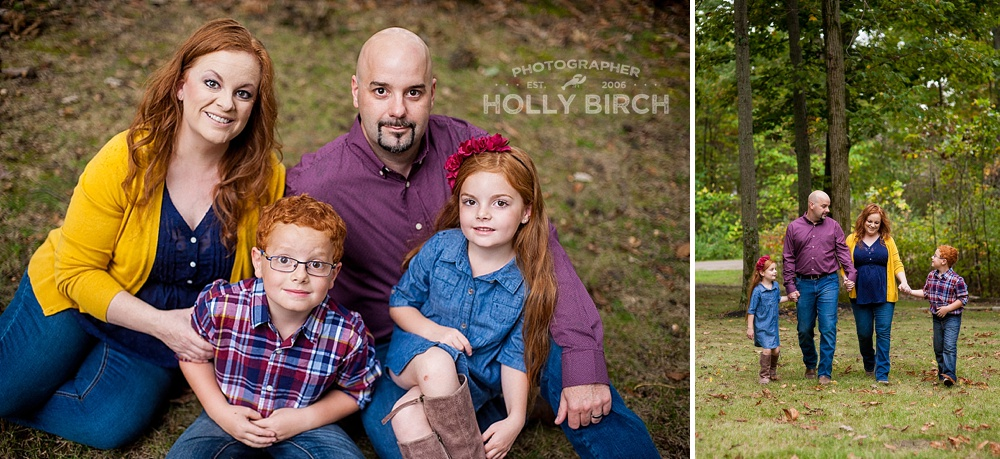 family holiday card photos