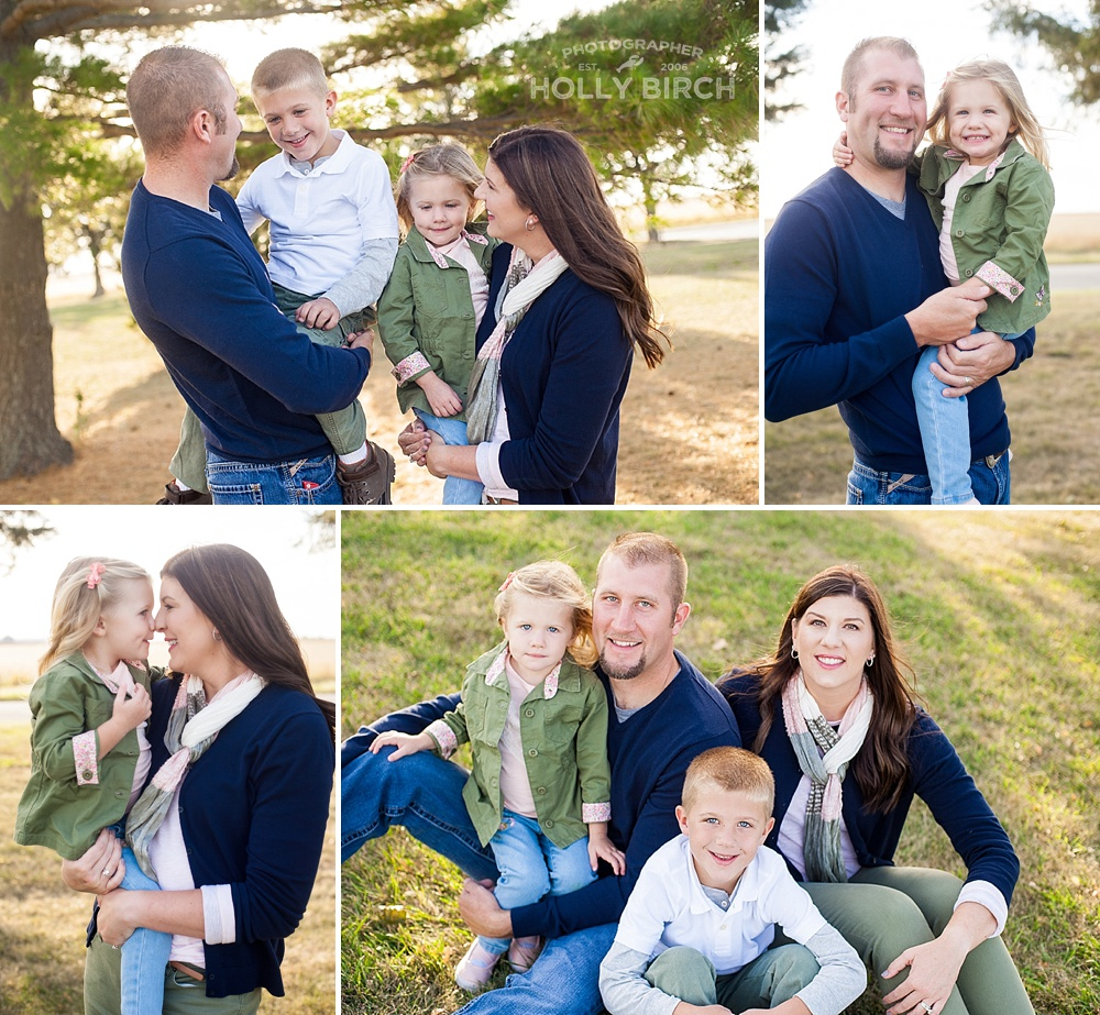modern fall stylish family photos
