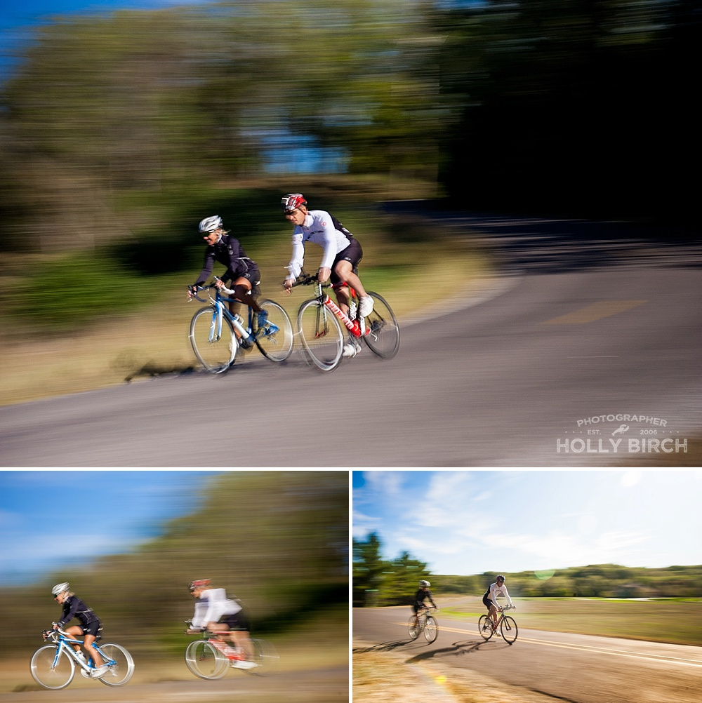 cycling motion blur photos with neutral density filter
