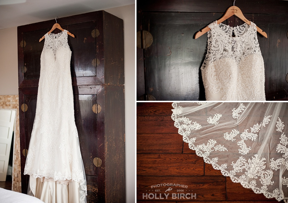 wedding dress photos with lace train