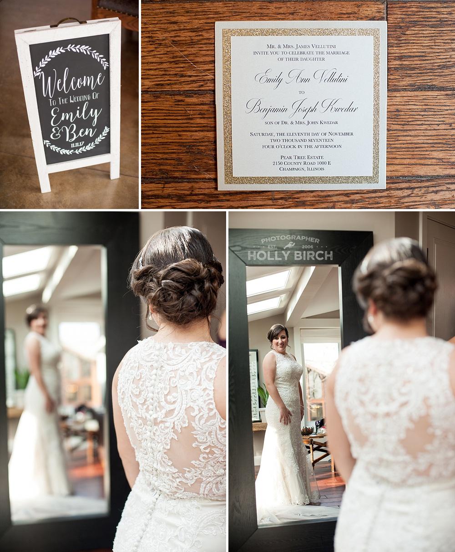 finishing touches on wedding day