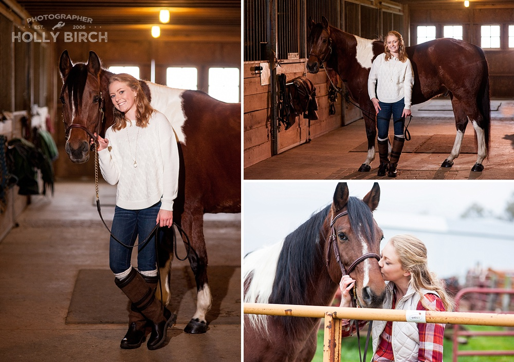 horse barn senior photography