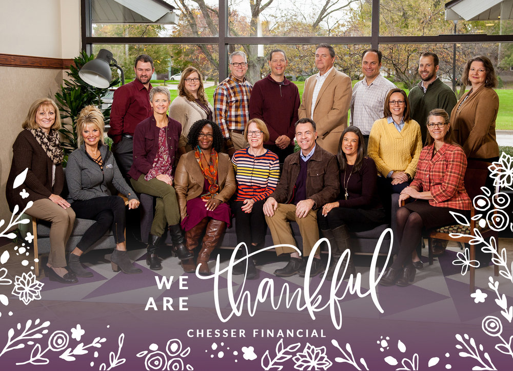 Chesser thankful card for clients