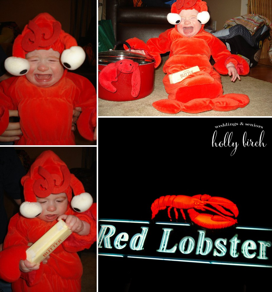 red lobster newborn costume