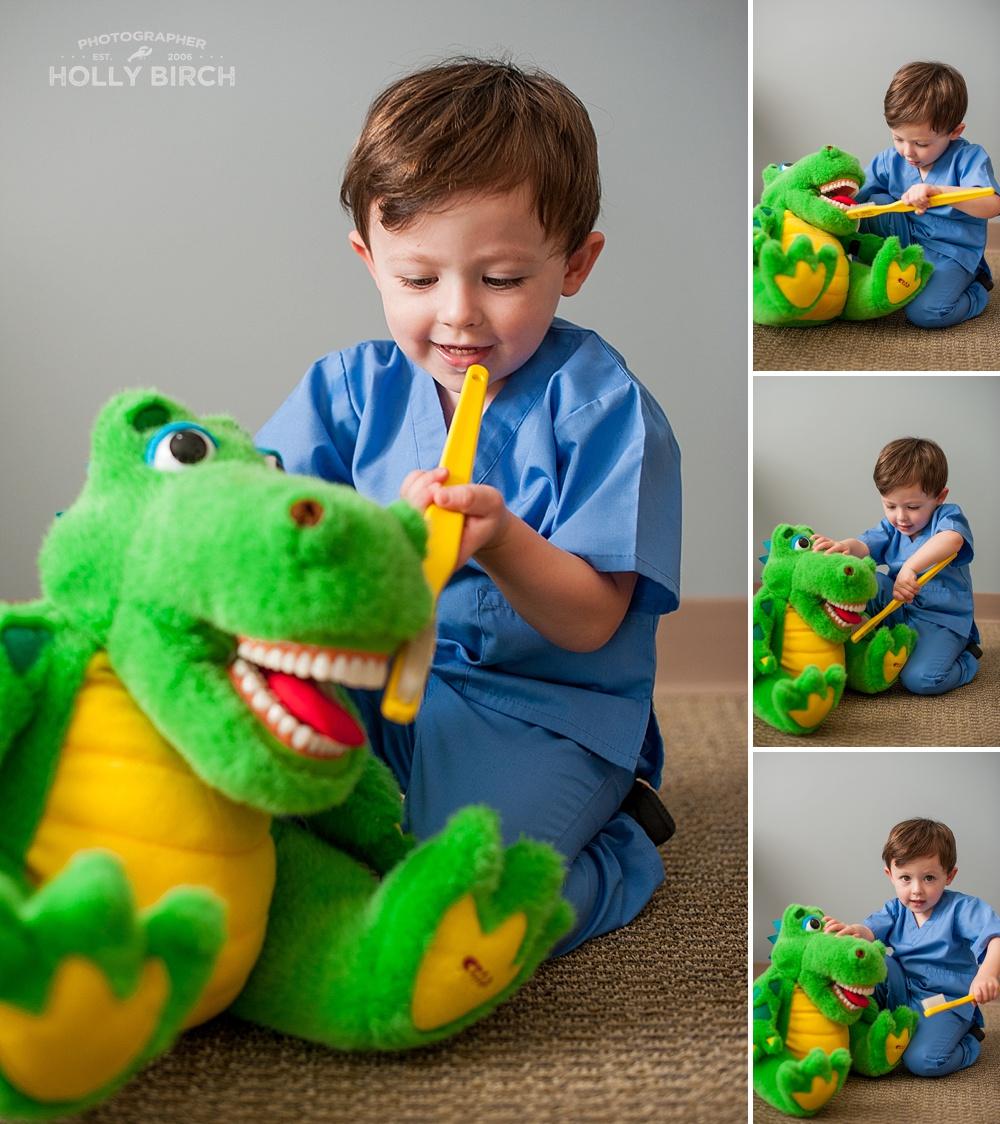 toddlers brushing their teeth