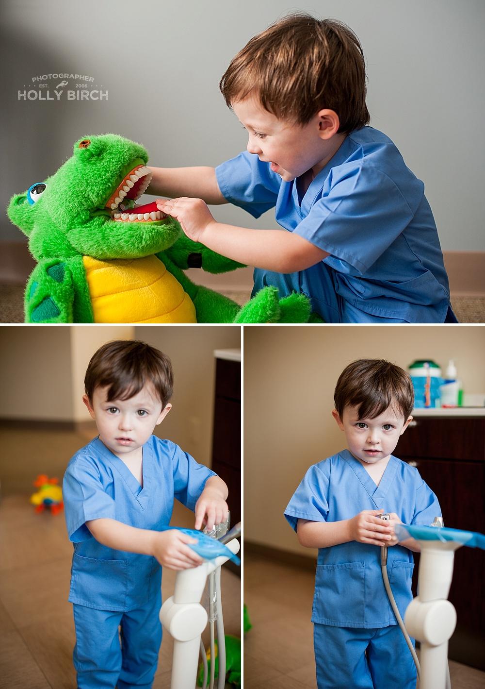 dentist themed kids photo shoot